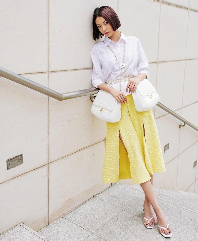 Tăng Thanh Hà, Khánh Linh và cách mặc áo sơ mi trắng đẹp mỗi ngày-6