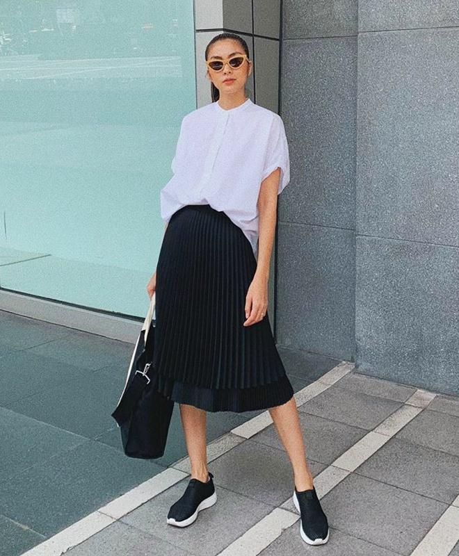 Tăng Thanh Hà, Khánh Linh và cách mặc áo sơ mi trắng đẹp mỗi ngày-8