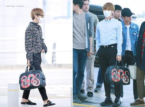 BTS thể hiện gu thời trang nơi phi trường: Đẳng cấp diện túi hàng hiệu đắt xắt ra miếng-1