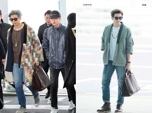 BTS thể hiện gu thời trang nơi phi trường: Đẳng cấp diện túi hàng hiệu đắt xắt ra miếng-12