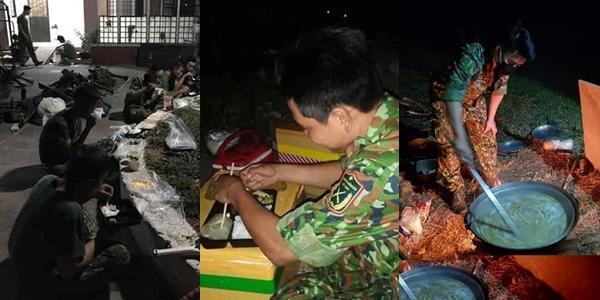Người lính đội mưa, bê lương thực tiếp tế cho người cách ly-2