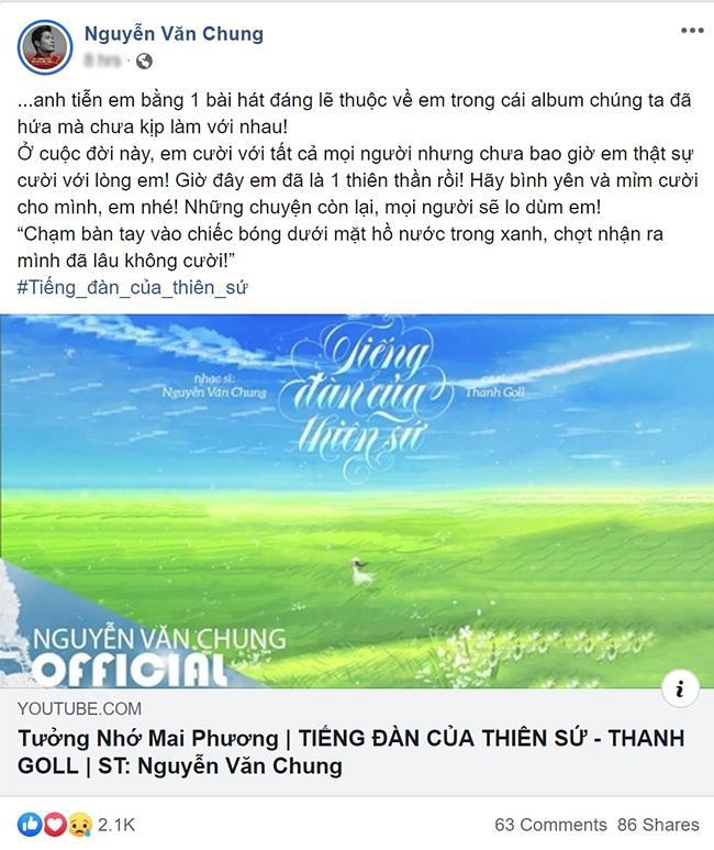 Nhạc sĩ Nguyễn Văn Chung tiễn Mai Phương bằng ca khúc đương thời đã hứa mà chưa kịp làm-1