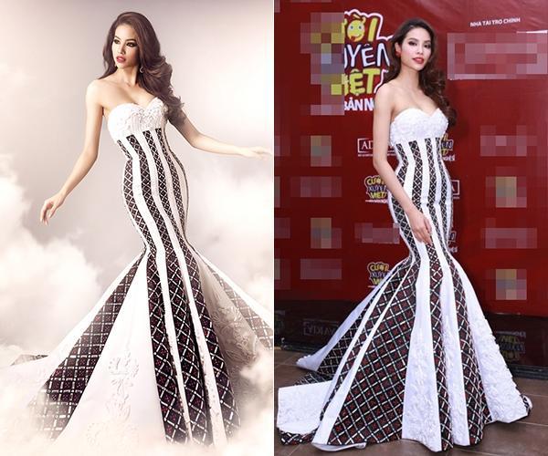 Từ khi làm mẹ, Phạm Hương có cách giải thích khác cho việc hay dùng lại áo váy cũ-4