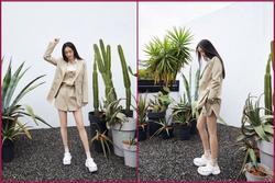 Dương Mịch mặc style 'lạ', khoe chân thon dài sau thời gian tránh dịch