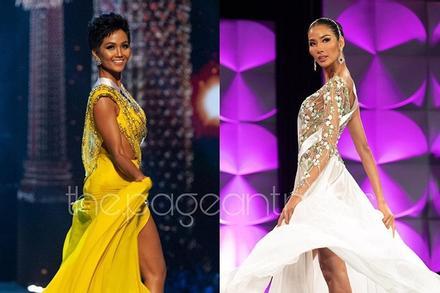 Bản tin Hoa hậu Hoàn vũ 2/4: H'Hen Niê - Hoàng Thùy đọ màn tung váy trên sân khấu quốc tế