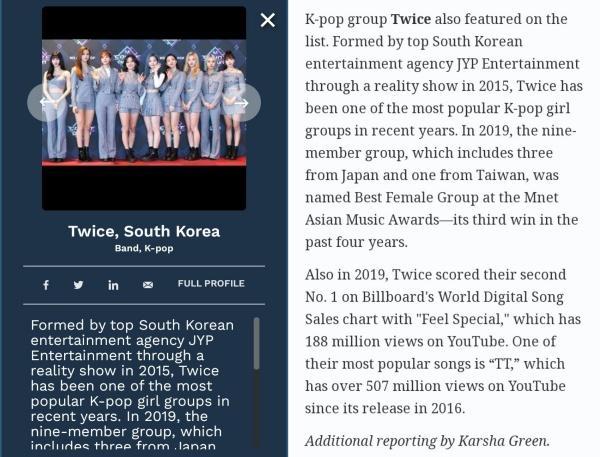 Twice vượt BTS và BlackPink để là nhóm nhạc duy nhất lọt top 30 Under 30 của Forbes-2