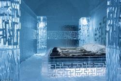 Khách sạn làm hoàn toàn từ băng, lạnh âm độ C