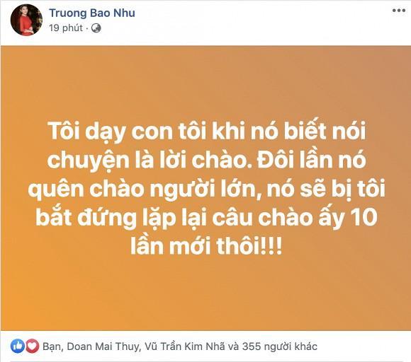Bị mẹ Mai Phương tố không chào hỏi người lớn dẫn đến xô xát, Trương Bảo Như đáp trả tinh tế-2