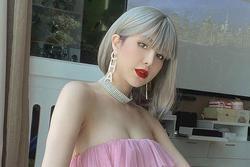 Trung thành với tóc dài, Diệp Lâm Anh biến hình nhận không ra với tóc ngắn bạc màu