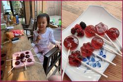 Chồng không thích cho con ăn kẹo, Phan Như Thảo vẫn tự làm kẹo mút thơm ngon cho con gái