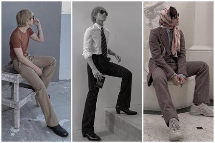 Chán style hip hop 'bụi phủi', Sơn Tùng giờ đóng bộ, mặc quần ống loe, giày gót cao nữ tính