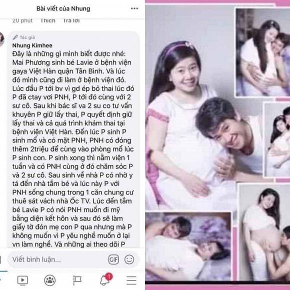 Dân mạng xót xa hình ảnh hạnh phúc hiếm hoi của Mai Phương khi mang bầu bên Phùng Ngọc Huy-1