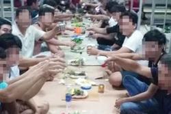 Nhóm người tụ tập ăn uống trong khu cách ly bị phạt 800.000 đồng