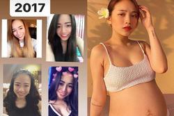 Con gái đại gia Minh Nhựa khoe hành trình nhan sắc 4 năm, đỉnh cao nhất là lúc mang bầu