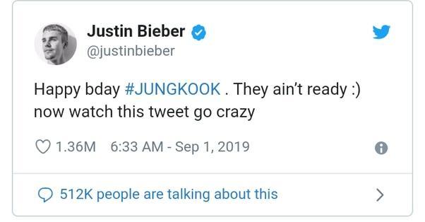 Justin Bieber hồn nhiên hô fanchant của BTS như một ARMY thực thụ nhưng không biết mình đang hát gì-4