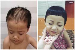 Ở nhà tránh dịch, mẹ đánh liều cạo tóc cho con trai, sản phẩm khiến cu cậu 'cười như mếu'