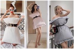 HẾT TRÒ: Phí Phương Anh - Trà Ngọc Hằng dùng gối làm váy biến hóa như fashionista