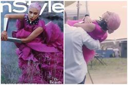 Lady Gaga được bế đến chỗ chụp ảnh vì sợ bẩn váy