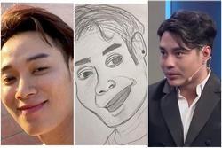 CƯỜI XỈU: Fan vẽ tranh tặng Trúc Nhân nhưng họa mặt cực giống Lê Dương Bảo Lâm