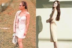 Cùng một kiểu váy hack tuổi: Song Hye Kyo thì được khen, Mỹ Tâm lại bị chê hơi sến