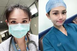 Tháo bỏ khẩu trang, hai nhân viên y tế được chú ý vì quá xinh đẹp