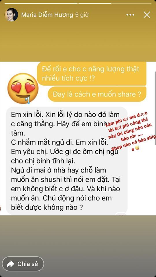 Giữa nghi vấn ly hôn Quang Huy, hoa hậu Diễm Hương khoe tin nhắn mùi mẫn với phi công trẻ-1