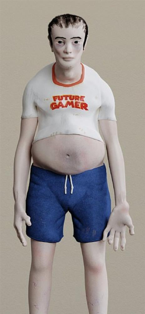Hình ảnh đáng sợ của người nghiện game sau 20 năm nữa-4