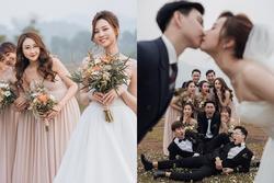 Ảnh cưới cặp đôi Lào Cai gây sốt: Từ cô dâu, chú rể đến hội bạn thân toàn 'cực phẩm' nhan sắc
