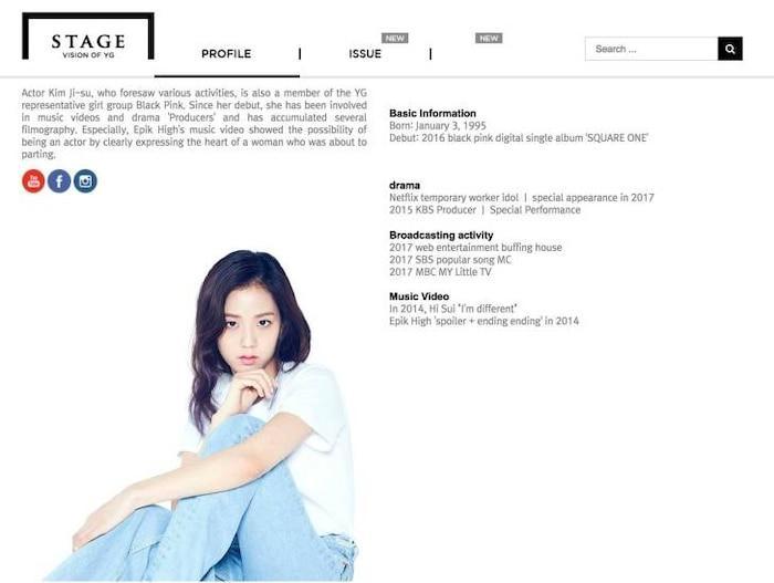 Thực hư chuyện Jisoo (BlackPink) tiếp tục bị đối xử bất công, bay màu khỏi mục diễn viên trên trang web YG Entertainment?-3