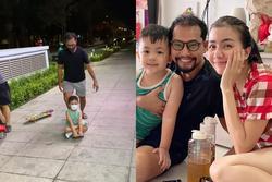 Vợ chồng Huỳnh Đông - Ái Châu bị nhắc nhở gay gắt vì đưa con ra khỏi nhà