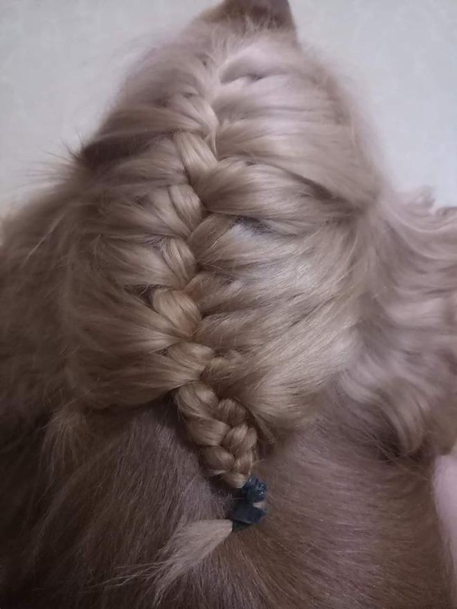 Khoe mẫu tóc tết mượt mà, màu đẹp chuẩn salon, cô gái khiến tất cả kinh ngạc khi xem tấm ảnh cuối-1