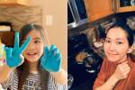 Kim Hiền chăm chồng con giữa dịch