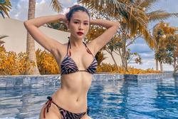 Lần hiếm hoi hot girl Sam diện bikini khoe vòng 1 gợi cảm