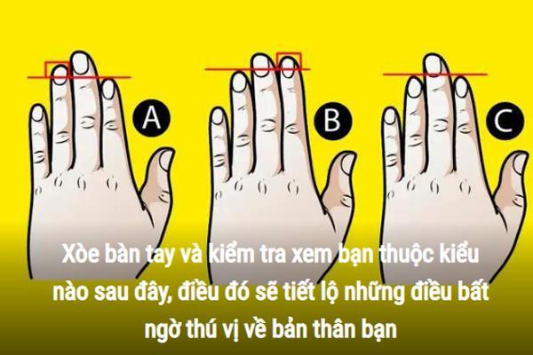 Trắc nghiệm: Xòe bàn tay trái ra xem bạn thuộc kiểu nào, sẽ có những tiết lộ bất ngờ về bản thân bạn-1
