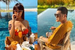 Quang Vinh, Hà Anh cách ly xã hội trong villa sang trọng