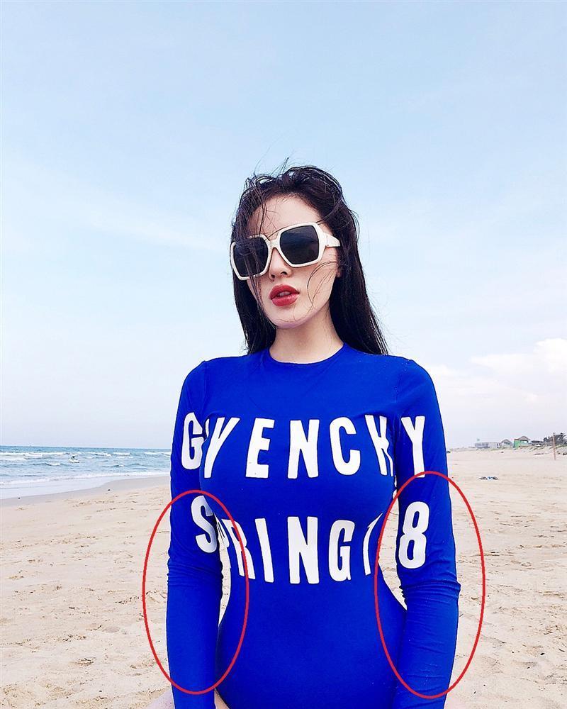 Hoa hậu Kỳ Duyên lại sống ảo, trình độ photoshop bị dân mạng chê quá xanh non-9