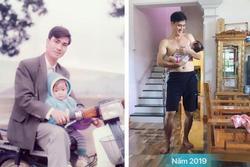 2 bức ảnh với khoảng cách 25 năm khiến tất cả trầm trồ: Nhan sắc của người đàn ông đã bị 'thời gian bỏ quên'?
