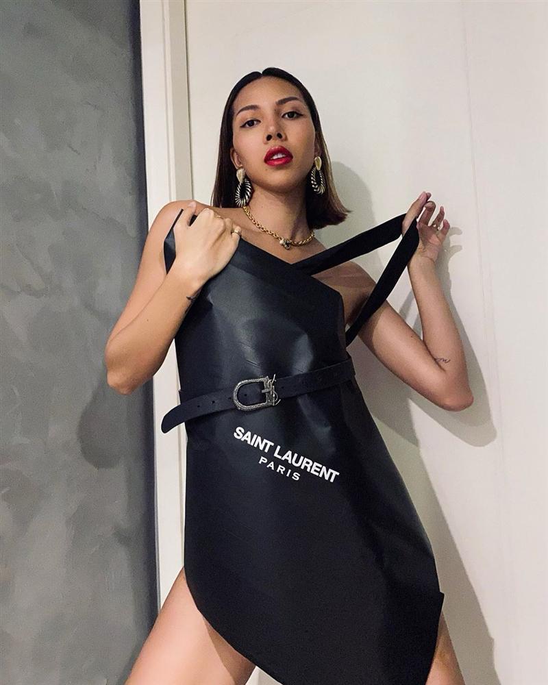 Trend lấy gối làm váy nhạt dần, Kỳ Duyên và Minh Triệu dùng túi giấy hàng hiệu che thân siêu sexy-7