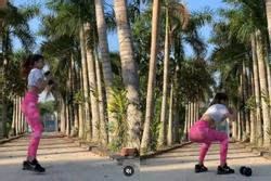 Đang miệt mài tập thể dục lại bị chê ở dơ, bạn gái Lâm Tây đáp trả: Vườn nhà 3 mẫu nên không quét nổi