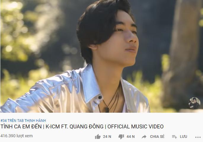 K-ICM ăn mừng MV đạt top 36 trending, CĐM đắng cay: Thì ra leo top ngược! Hôm qua 35 hôm nay 36-5