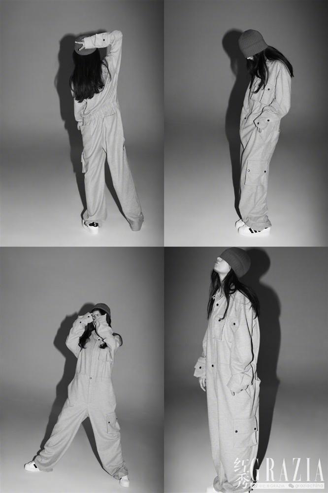 Dương Mịch gây sốt với mái tóc rối, khoe chân dài thẳng tắp trên tạp chí-6