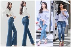 Nhìn Suzy quảng cáo quần jeans chân dài miên man thấy mê, ngó sang ảnh thật mới biết hóa ra chỉ là 'ánh trăng lừa dối'