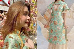 Búp bê lai xinh nổi tiếng Sài thành gây tranh cãi vì áo dài 'toang' phần ngực