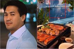 Chia tay Linh Rin, thiếu gia Phillip Nguyễn lộ ảnh ăn tối bên cô gái mặc áo choàng tắm