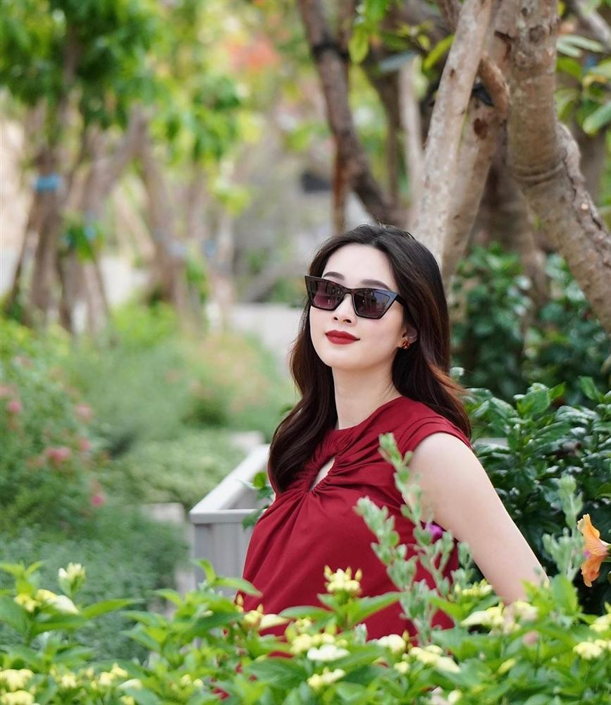 2 lần mang thai vượt mặt, hoa hậu Đặng Thu Thảo sở hữu nhan sắc xuất sắc vạn mẹ bầu mê-1