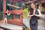 Hương Tràm bị dân mạng công khai nhắc nhở vì đi chùa mà ăn mặc phản cảm