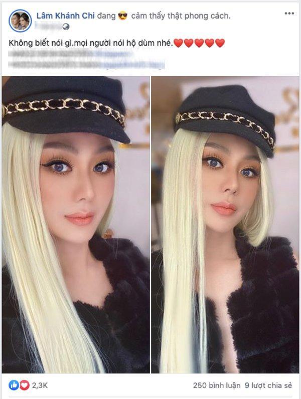 Lâm Khánh Chi bất ngờ nổi loạn với tóc bạch kim ở tuổi 43-1