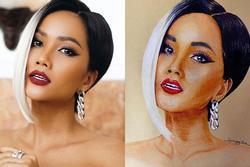 Bản tin Hoa hậu Hoàn vũ 27/4: Bất ngờ với tranh vẽ H'Hen Niê giống 90%