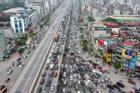 Hà Nội: Hình ảnh ô tô 'không lối thoát' tại đường vành đai 3 trên cao