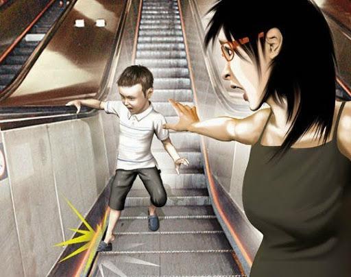 Thót tim xem clip bé trai bị kẹt chân vào thang cuốn ở trung tâm thương mại ở Hà Nội-3